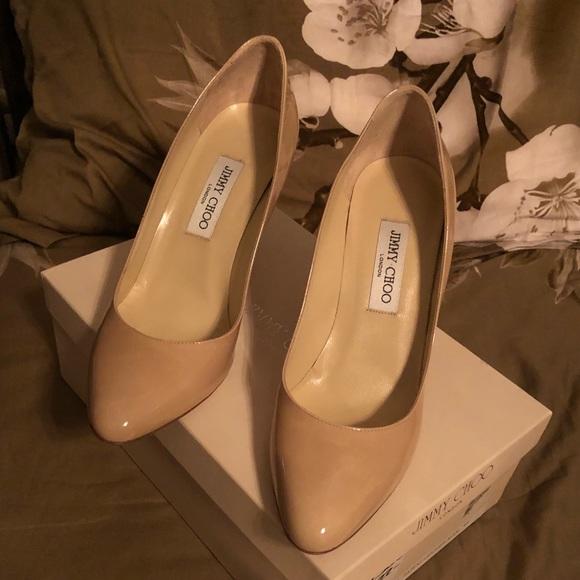 Jimmy Choo Shoes - Jimmy Choo Gilbert Patent Leather Nude 41